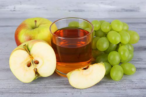 Green grape and apple juice