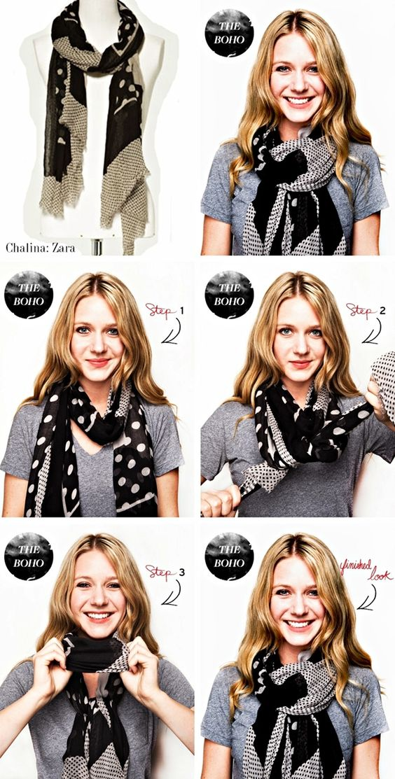 How to tie a scarf The Boho