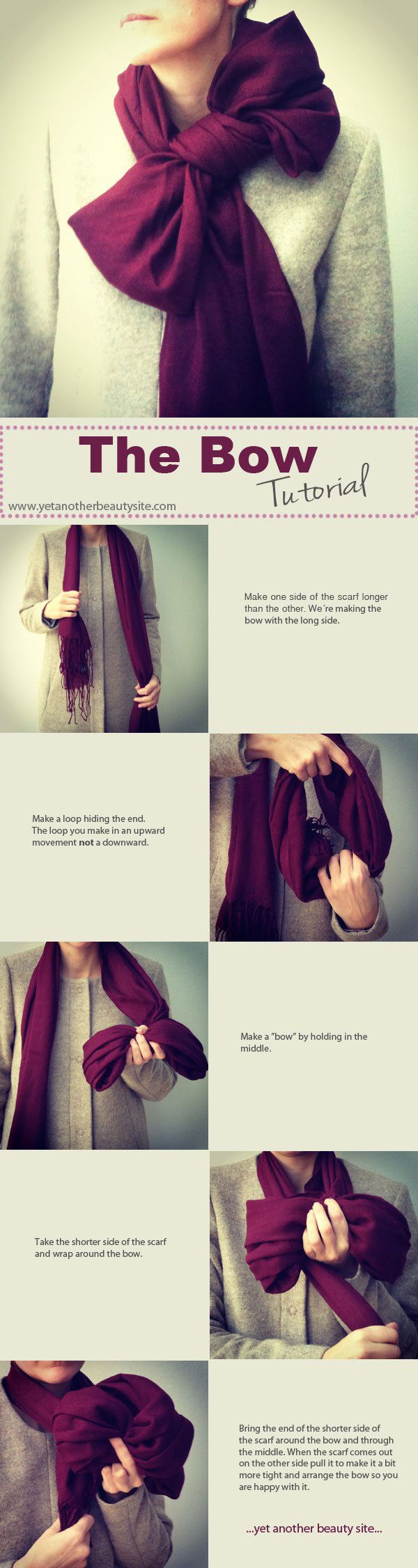 How to tie a scarf The Bow