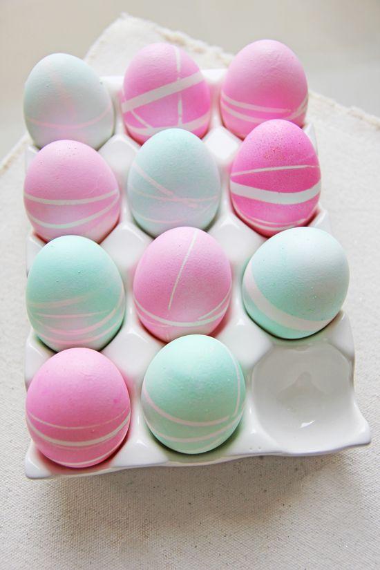 Pastel patterned Easter eggs