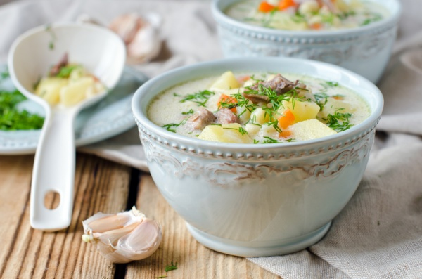 Chilled Cream Cheese Turkey Soup
