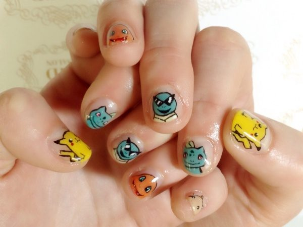 10 Adorable Pokmon Go Nail Art Ideas Part 5
