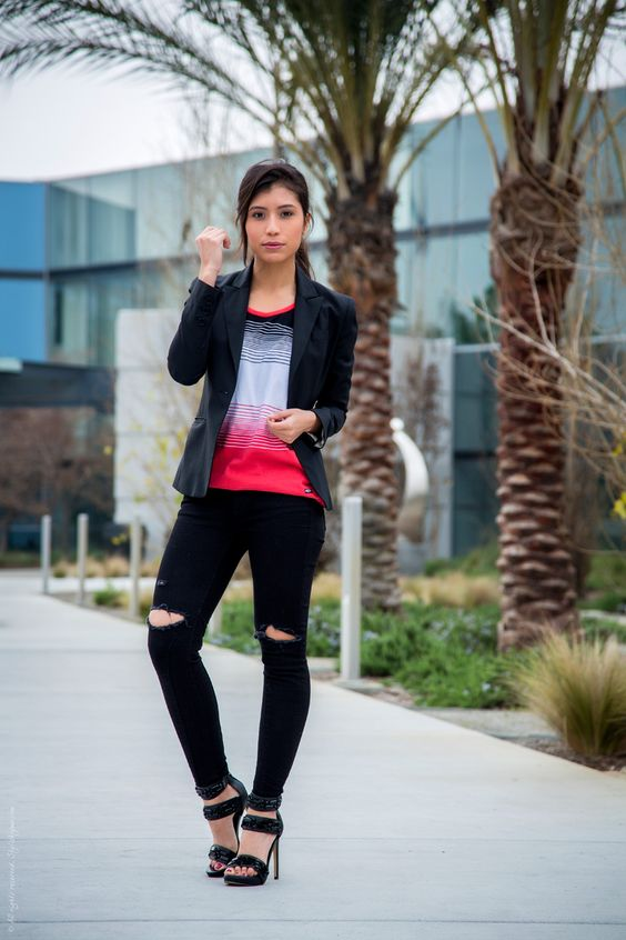 black-blazer-black-denim-jeans-and-tank-top