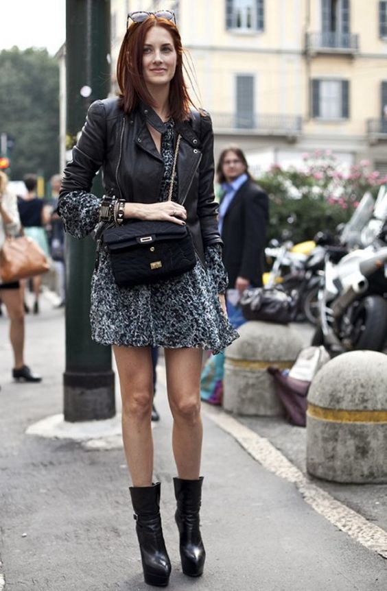 printed-lightweight-ensemble-and-black-leather-jacket