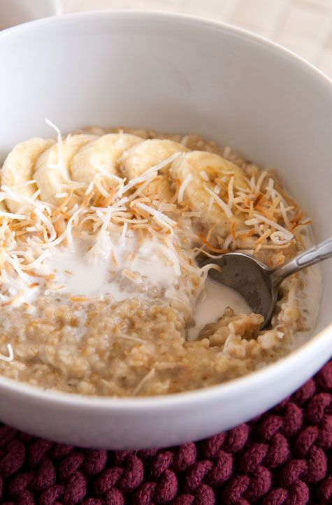 oatmeal with coconut flakes