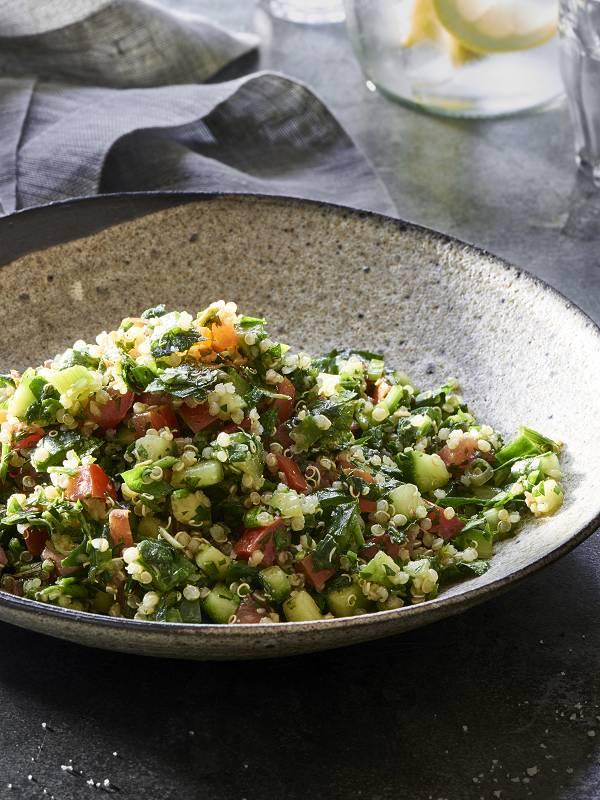 Gluten Free Vegan Quinoa Tabouli