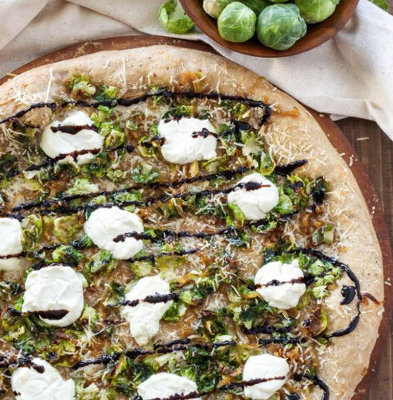 Ricotta and Brussels Sprouts Pizza