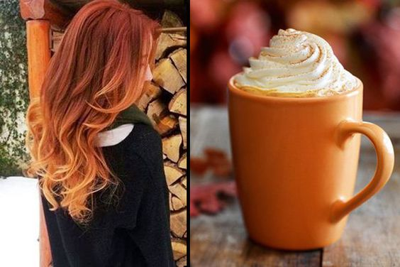 Pumpkin Spice Ombre Hair
